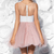 White and Blush Pink Short Homecoming Dress,Short Party Dresses, Tulle