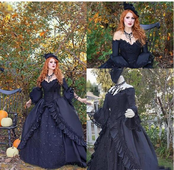 Vintage Victorian Black Wedding Dresses By Miss Zhu Bridal On Zibbet