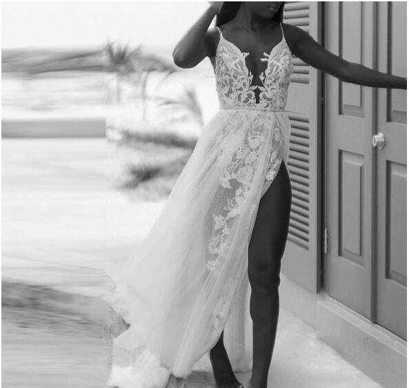Sexy Spaghetti Beach Wedding Dresses 2019 By Miss Zhu Bridal On Zibbet