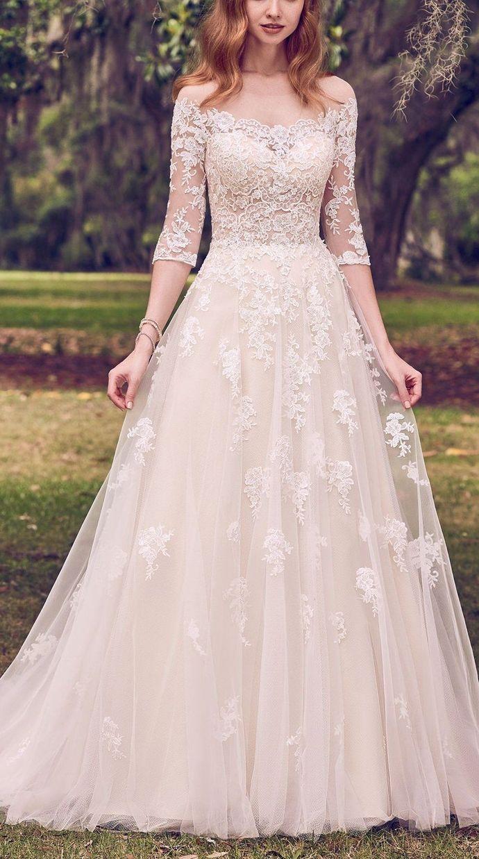 e32199ddfb1 Gorgeous Lace White Wedding Dresses
