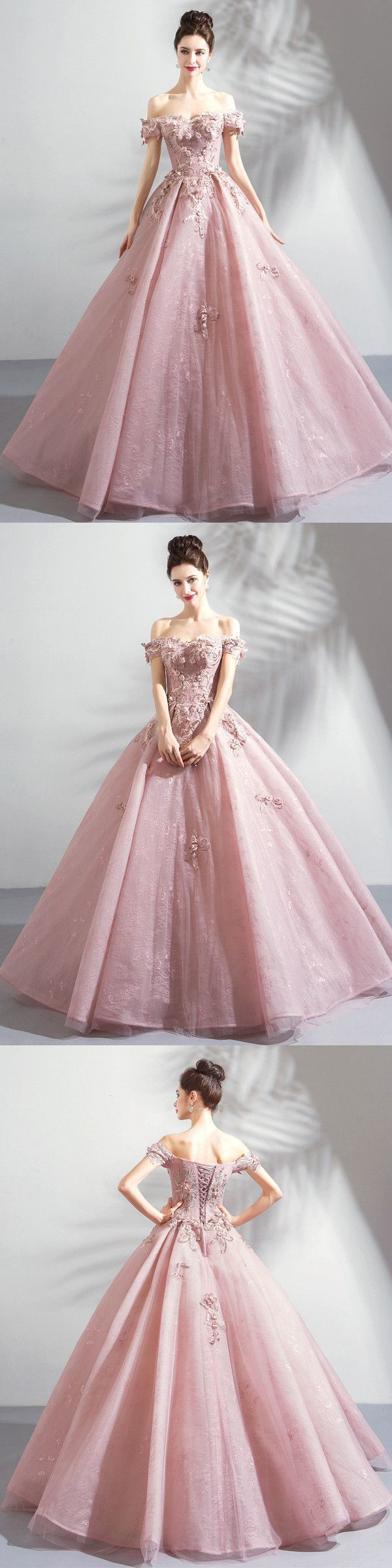 Off Shoulder Tulle Prom Dresses, Formal Evening Dress