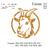 Boer Goat embroidery design, Nubian Goat embroidery, embroidery pattern N 717