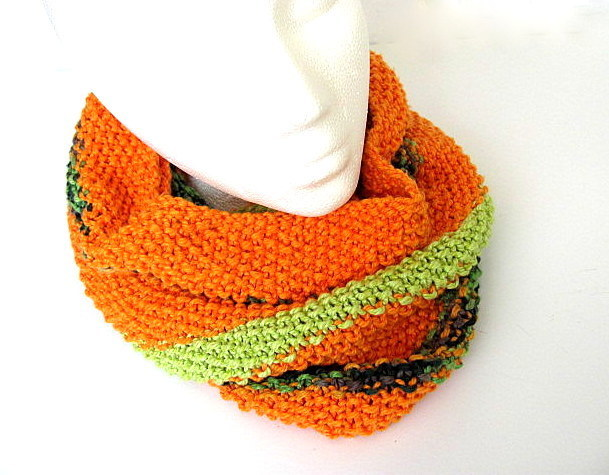 Orange and Green Cowl FREE US Shipping