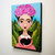 Frida and Her Black Cats Original Cat Folk Art Acrylic Painting