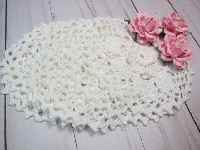 Crochet Doilies White Raised Center Doilies - 8pcs 5.5-inch