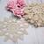 Crochet doilies Beige 3.75-inch Doilies - 10pcs