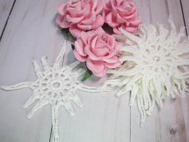 Crochet Doilies Star Shape off White 3-inch Doilies - stl 10 pcs