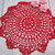 Crochet Doily Red 10.5-inch, Large Doilies - stl 1pc 10.5-inch