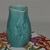 Pottery pitcher glazed in aqua, serving pitcher, stoneware creamer, home decor,