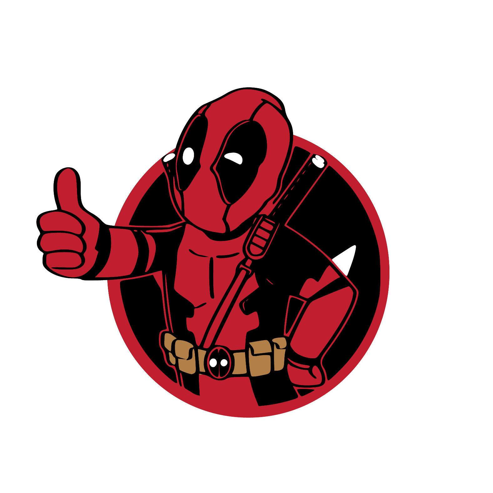 Deadpool 03 Graphics Design SVG DXF EPS Png By