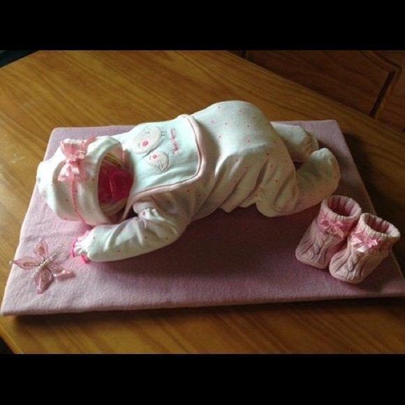 Sleeping Diaper Baby Cake