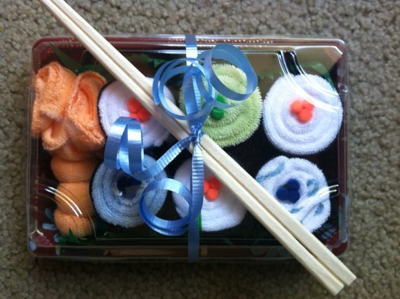 Baby Shower, Washcloth Sushi, Baby Shower Decor