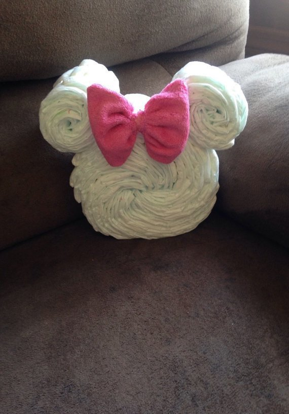 Diaper Cake, Minnie Mouse / Mickey Mouse, Centerpiece