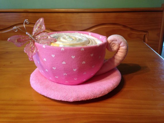 Teacup, Baby Shower Decor, Teacup Diaper Cake