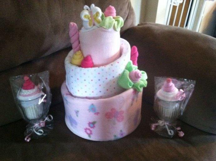 Diaper Cake &  Washcloth Sundae's