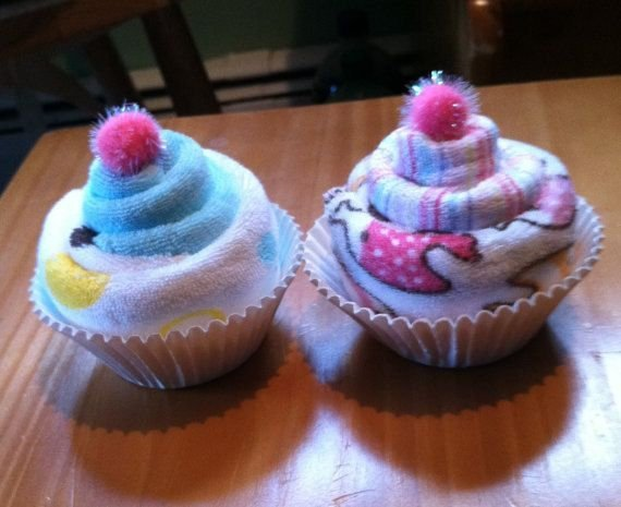 Washcloth Cupcake, Baby Shower Favors