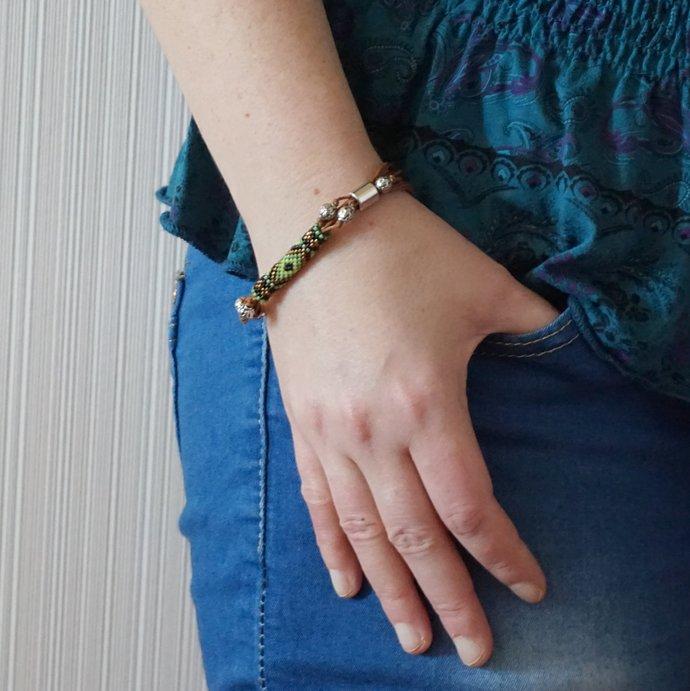 Multi strand bracelet Friendship bracelet woven bracelet Beaded boho bracelet