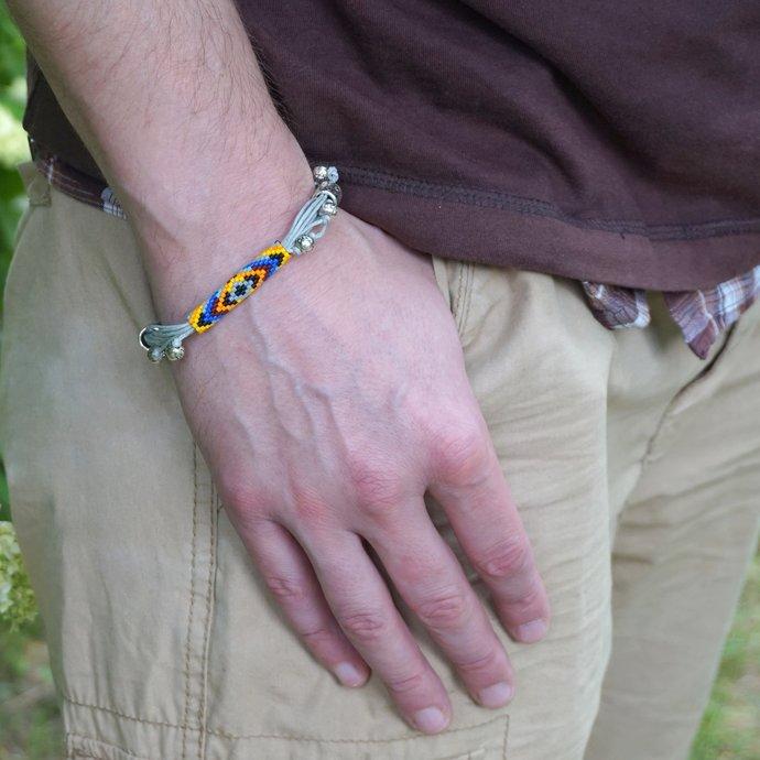 Beaded boho bracelet  Friendship bracelet woven bracelets Hippie bracelet Multi