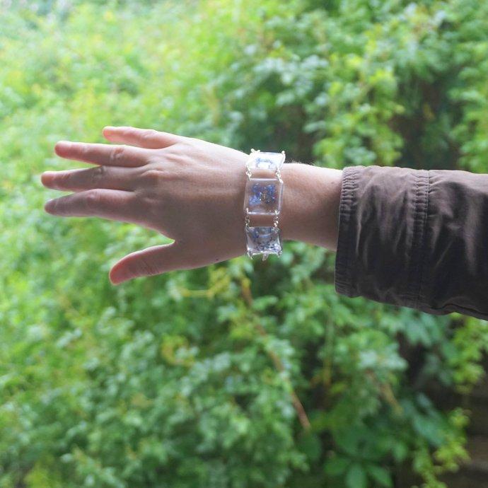 Real flower bracelet Resin bracelet Real flower jewelry Pressed flower Botanical
