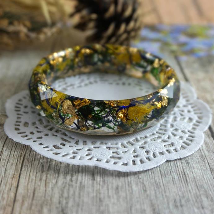 Bangle bracelet fairytale gift Delicate bracelet Gift|For|Women Resin jewelry