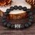 Viking Rune Stone Lava Bead Bracelet - FREE GIFT WITH EVERY PURCHASE!