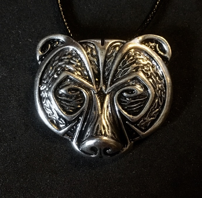 Silver Plated Viking Bear Pendant Necklace - FREE GIFT WITH EVERY PURCHASE!
