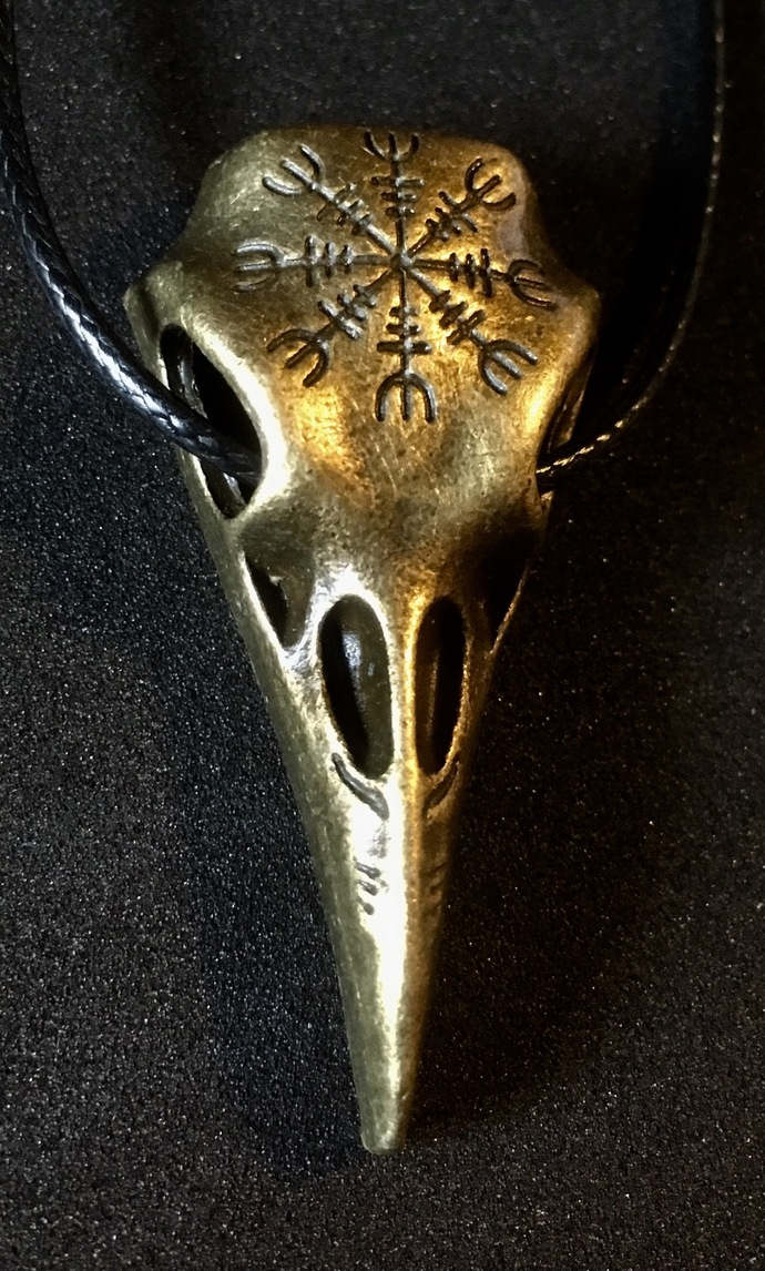 Celtic Viking Raven Skull Necklace Helm Of Awe - FREE GIFT WITH EVERY  PURCHASE!