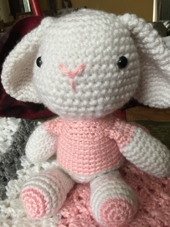 Baby blanket with Bunny