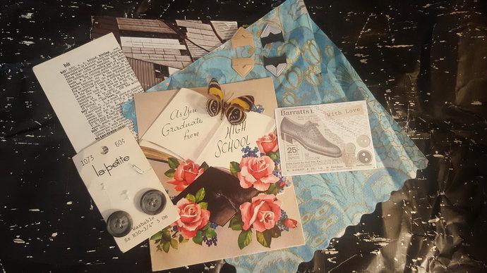 Mini Vintage EPHEMERA Grab Bag Mixed Media Art Kit Journal Inspiration