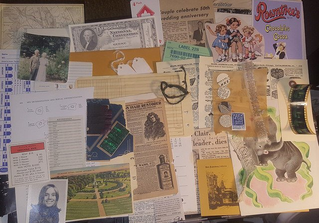 Over 50 pcs of Vintage EPHEMERA Grab Bag Mixed Media Art Kit Journal Inspiration