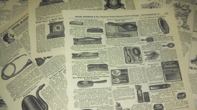 Vintage EPHEMERA Sears Catalog Pages 5
