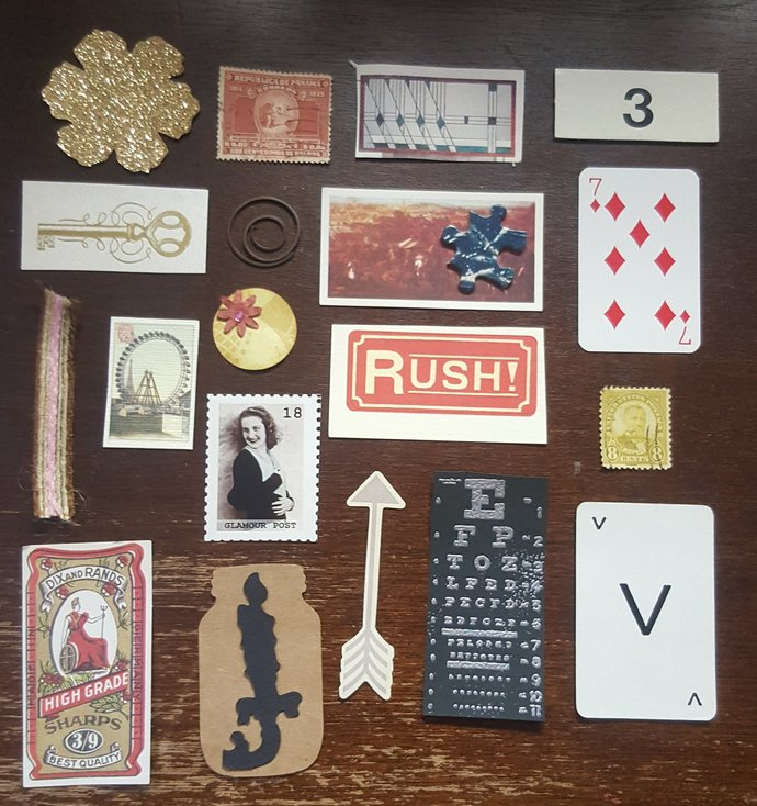 Tiny Vintage EPHEMERA Pcs for Art Inspiration
