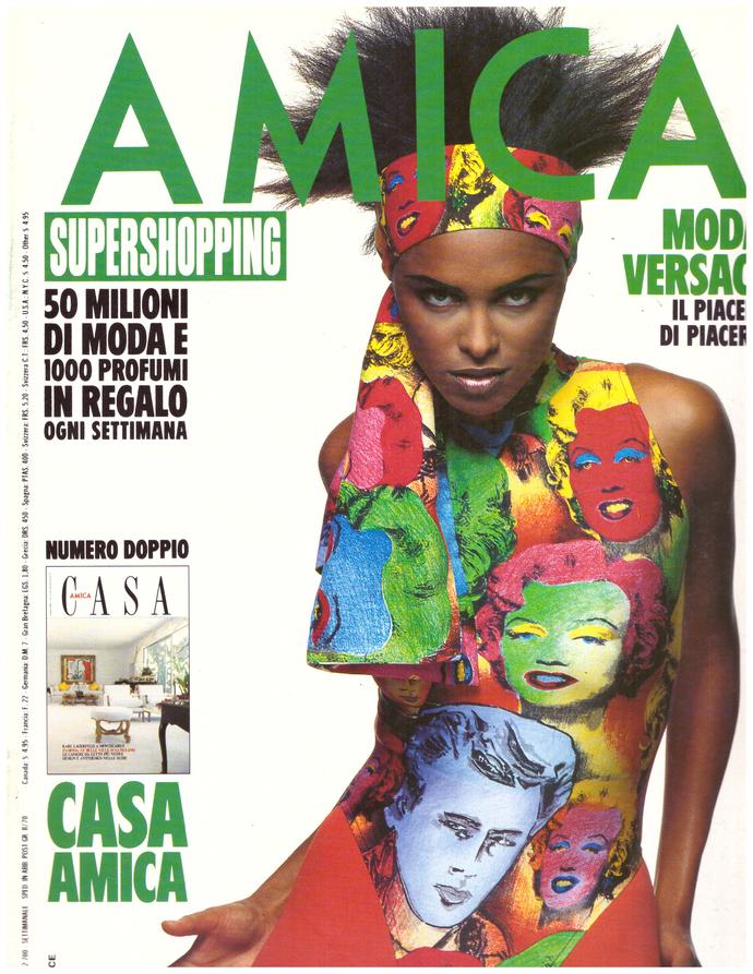 1991 Amica Fashion Magazine Lana Ogilvie Gianni Versace Byblos Valerie Kaprisky