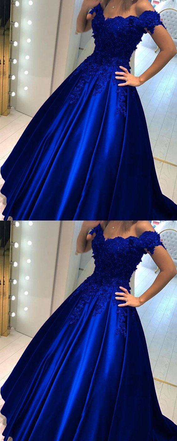 royal blue prom dresses ball gowns quincenera by ModelDressy on Zibbet