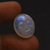Extraordinary ! Rainbow Moonstone Carved Faces Oval polished Cabochon Semi