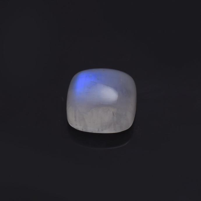Rainbow Moonstone Cushion 14MM  polished Cabochon Semi Precious Flawless Loose