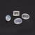 Rainbow Moonstone Faceted  Oval Octagon Semi Precious Flawless Loose Gemstone