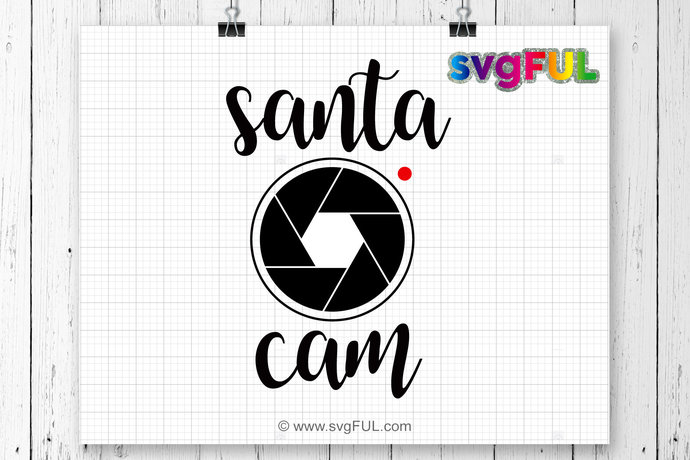 instant download santa cam svg santa cam winter by svgful on zibbet
