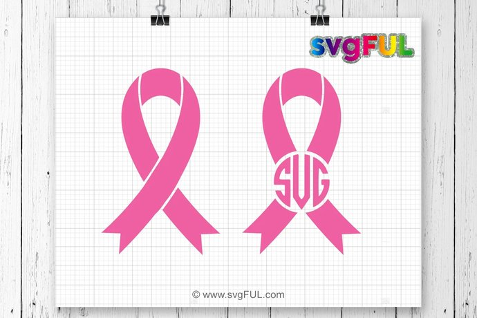 INSTANT DOWNLOAD! SVG, Cancer Ribbon Svg, Cancer Ribbon Monogram Svg, Cancer