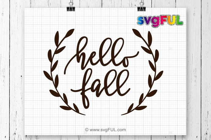 instant download hello fall svg fall svg fall by svgful on zibbet
