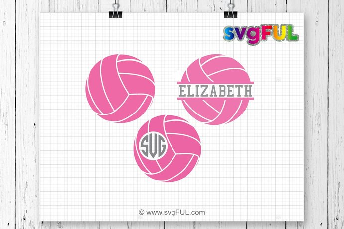 INSTANT DOWNLOAD! SVG, Volleyball Svg, Volleyball Frames Svg, Volleyball