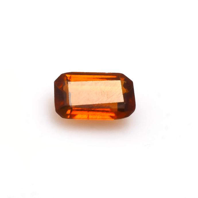 Hessonite Garnet Faceted Octagon Semi Precious Loose Gemstone