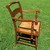 Hitchcock Ethan Allen Style Notched Rush Seat Chair With Arms Maple Undecorated