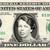 ELEANOR ROOSEVELT on a REAL Dollar Bill Cash Money Collectible Memorabilia
