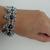 Romanov bracelet, hematite beads, chainmaille jewelry