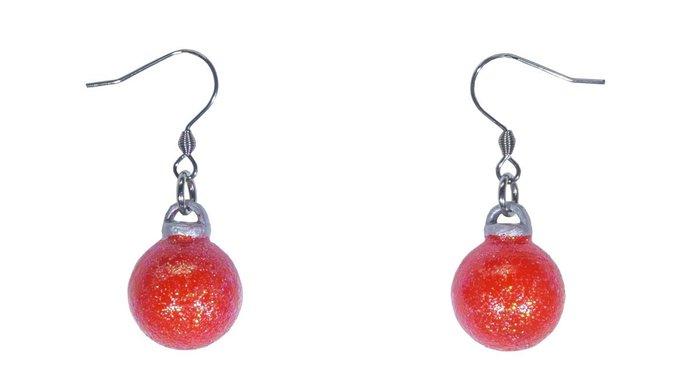 3D Christmas Ornament Dangle Earrings - Free Shipping. Made in Hawaii. Aloha