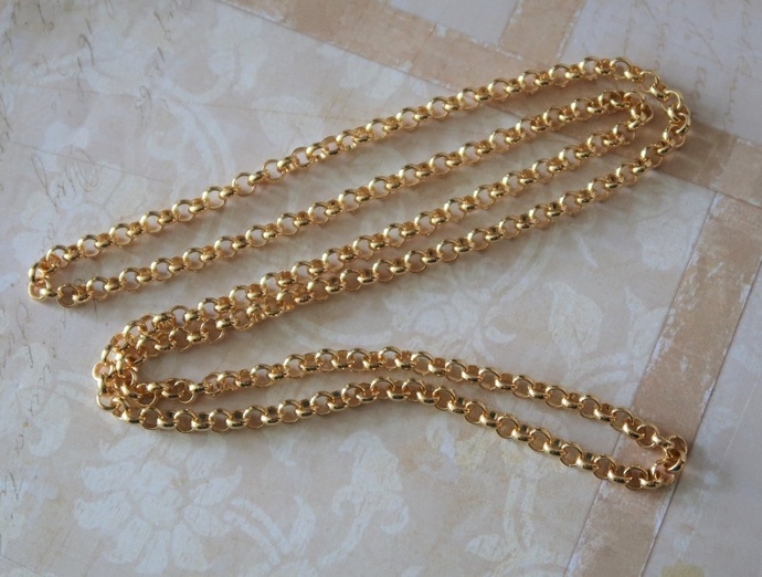 1 Metre superb quality Goldplated chain