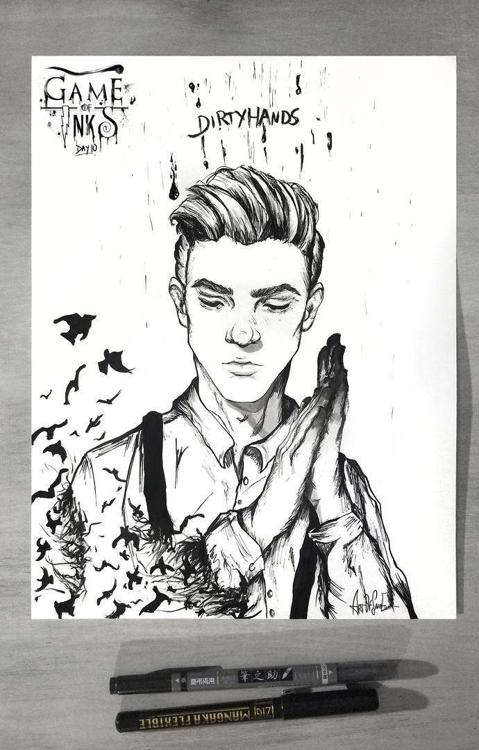 Dirtyhands - Fine Art Print - Inktober 2018