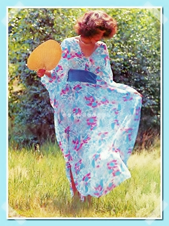 Vintage Chart or Graph Sewing Pattern to make Ladies Dreamy Kaftan Caftan