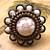 Upcycled Copper White Flower Ring